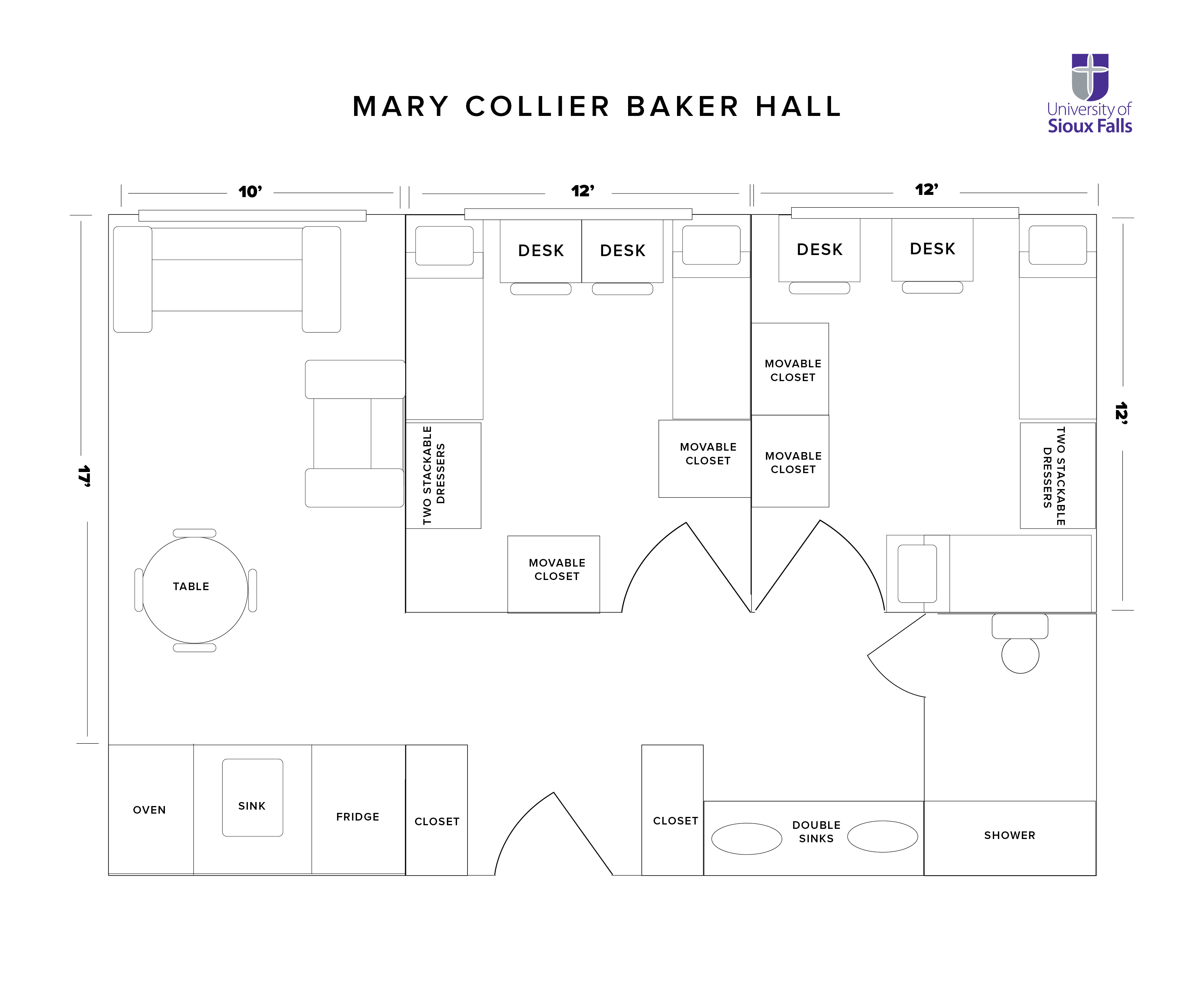 Mary Collier Baker Hall Floorplan