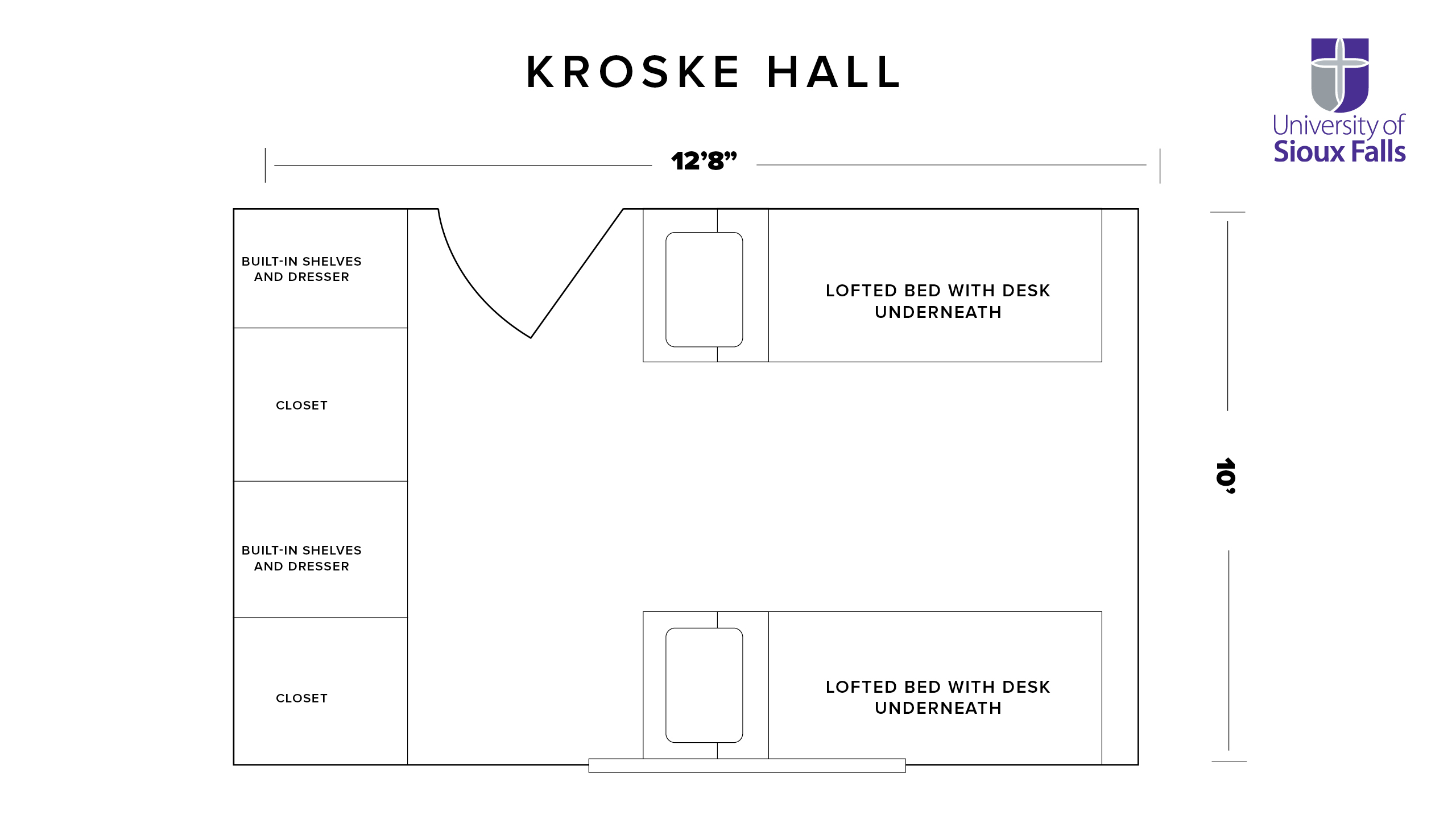 Kroske Hall Room Layout