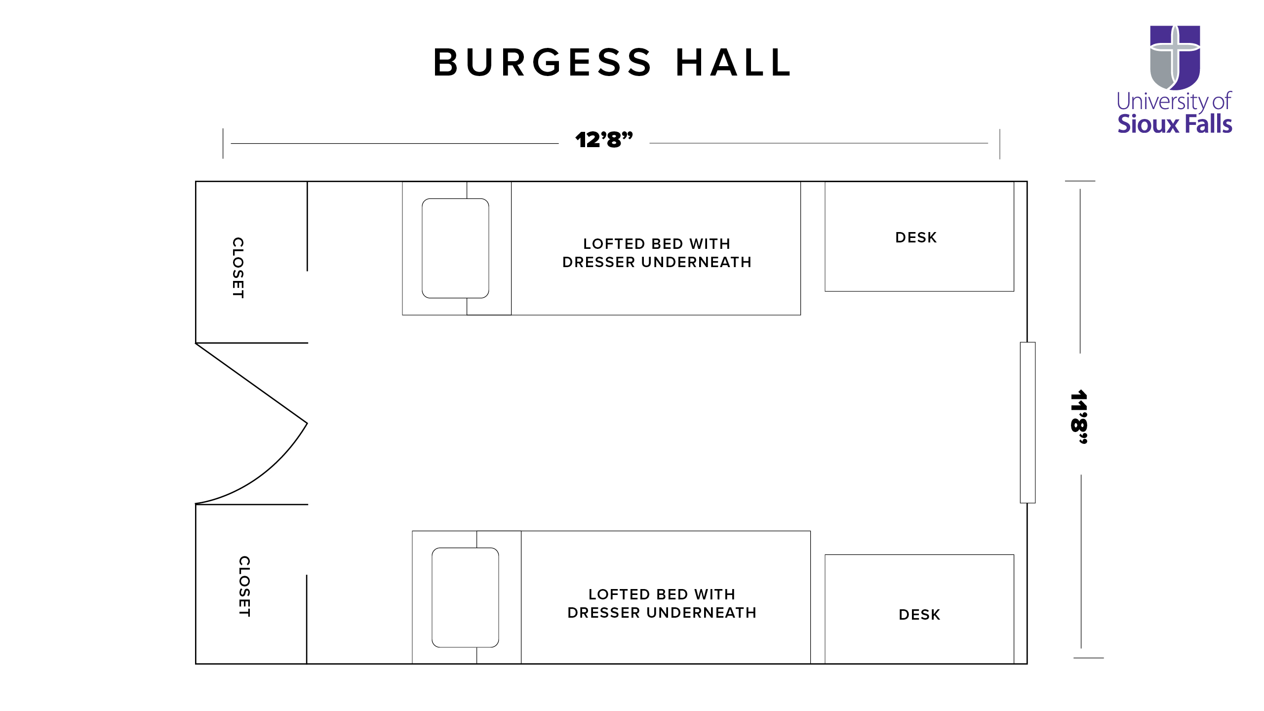 Burgess Hall room Architect layout