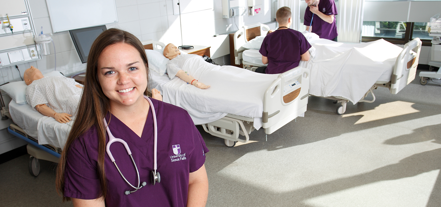 USF nursing graduate working as an RN at Avera McKennan Hospital in Sioux Falls.