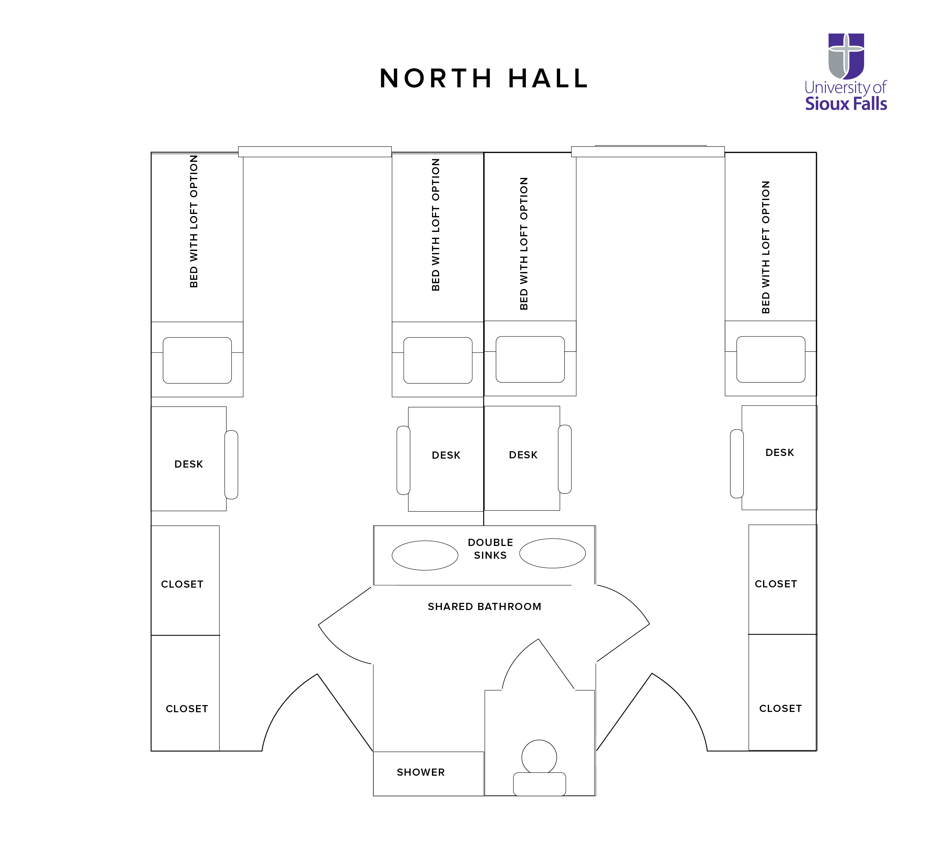 North Hall Floor plan