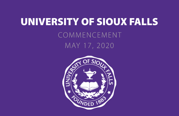 University of Sioux Falls Commencement May 17, 2020