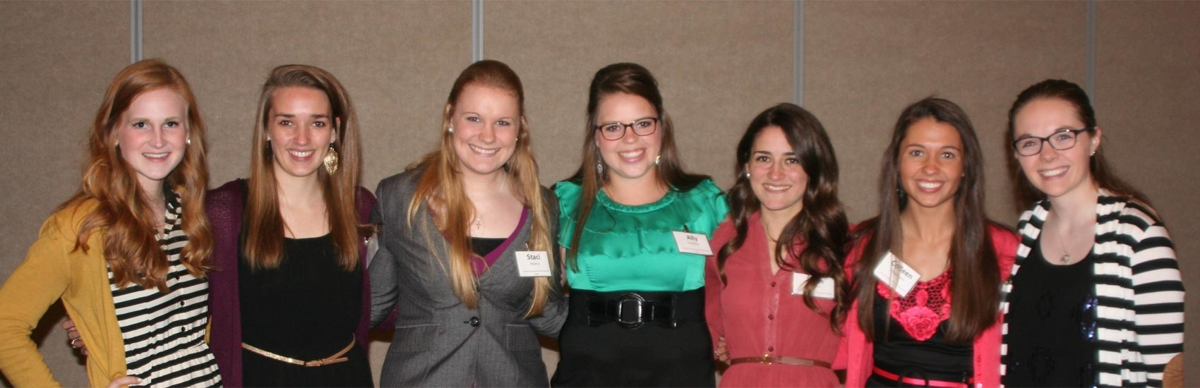 students at the academic scholarship banquet