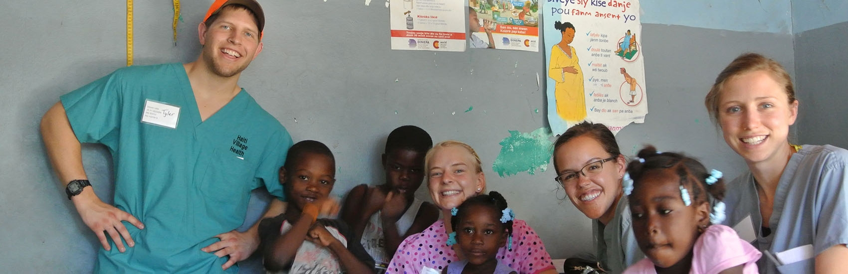 USF students on a mission trip to Haiti.