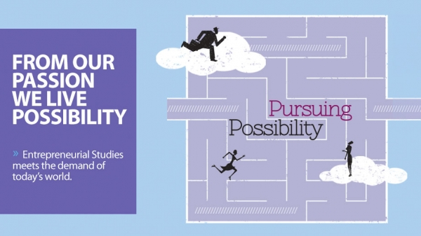 USF Magazine cover story, entitled Pursuing Possibility.
