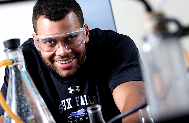 USF Chemistry student in the lab.