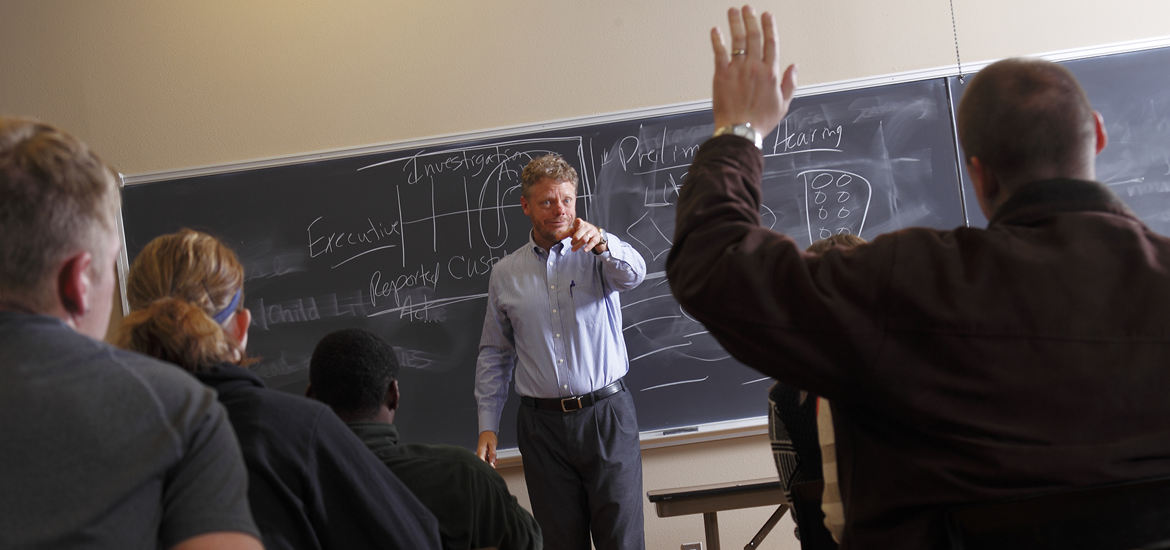 Professor Mike Thompson teaching a class at USF.