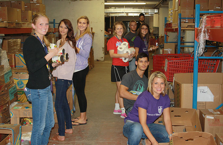 USF students serving in the community.