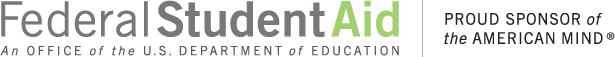 Logo: Federal Student Aid - An Office of the U S Department of Education